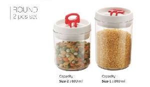 2 Piece Round Food Storage Container Set