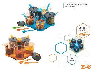 5 Piece Revolving Spice Rack