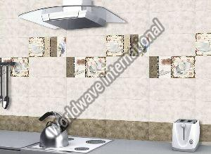 Glossy Ceramic Kitchen Wall Tiles 300x600mm