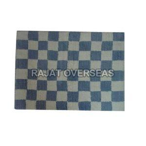 Checked Pattern Bath Mat
