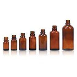 Moulded Amber Glass Bottle