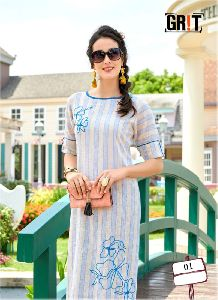 Party Wear Cotton Kurtis