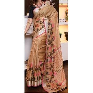 Designer Party Wear Cotton Saree