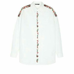 Ladies Embroidery Cotton Shirt