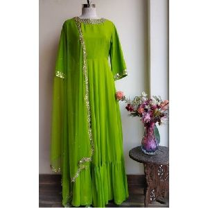 Ladies Green Anarkali Suit