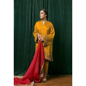 Ladies Silk Suit with Tulip Pant
