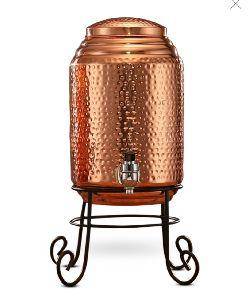 8 Litre Hammered Copper Water Jug