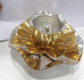 Silver Plated Brass Diya