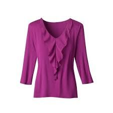 Ladies V-Neck Fancy Top