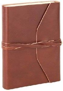 Brown Leather Unlined Eco-friendly Journal Diary