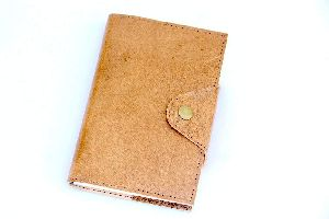 Brown Unlined Eco-friendly Travel Leather Journal Diary