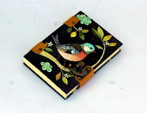 Button Closure Travel Paper Leather Journal Diary