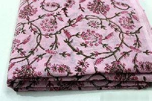 Floral Print Jaipuri Sanganeri Cotton Fabric