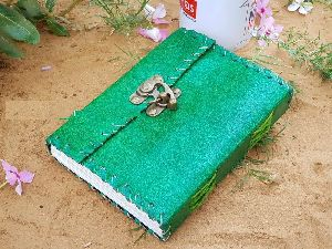 Green Leather Paper Diary