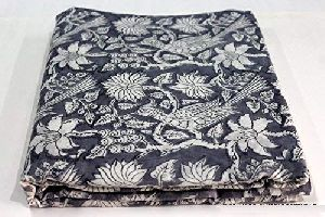 Hand Block Print Running Cotton Fabric