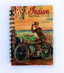 Indian Motorcycle Printed Cardboard Travel Journal Diary