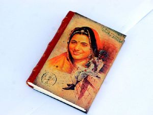 Indian Women Printed Cardboard Travel Journal Diary