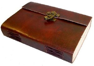 Brown Metal Lock & Eco-friendly Leather Diary