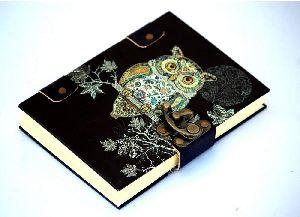 Owl Printed Cardboard Travel Journal Diary
