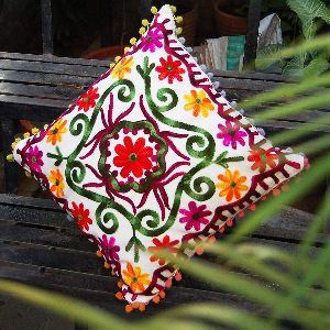 Suzani Home Decorative Cotton Embroidered Square Cushion Cover