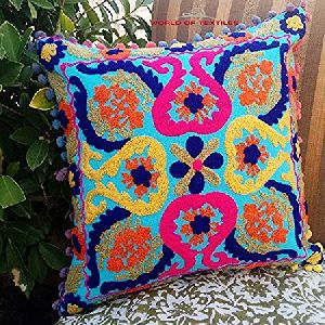 Suzani Uzbekistan Style Cotton Sofa Cushion Cover