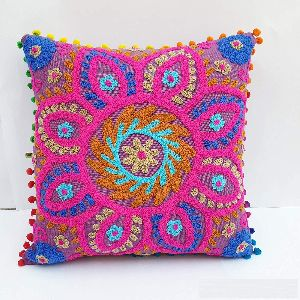 Suzani Vintage Square Cotton Cushion Cover