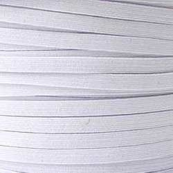 White Braided Elastic Tape