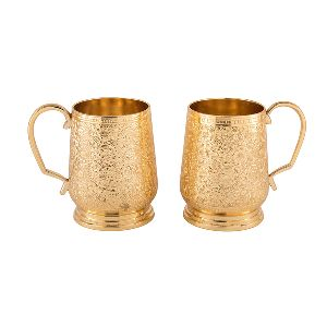 Gorgeous Awesome Design Brass One Pair Glass Set