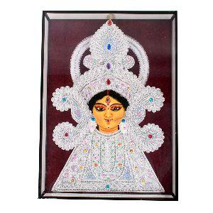 Amazing Sholapith Face of Goddess Durga