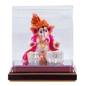 Astonishing Pure Silver Musical Ganesha Statue