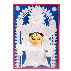 Beautiful Sholapith Face of Goddess Durga
