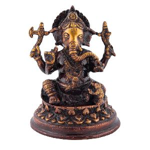 Brass Lord Ganesh Antique Statue