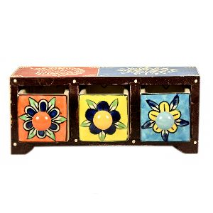 Dazzling Wooden Multicolour Chest Drawer