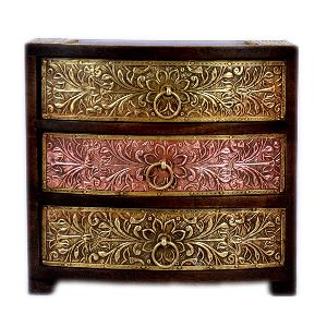 Fantastic Wooden Unique Brass fitted three Chest Drawer
