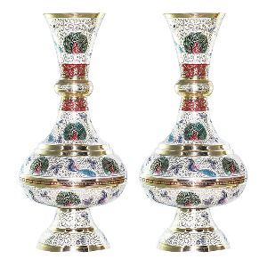 Marvelous Beautiful with Color Brass Vase