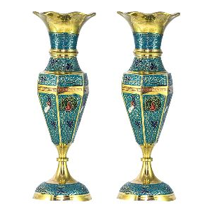 Fantastic One Pair Beautiful Brass Vase