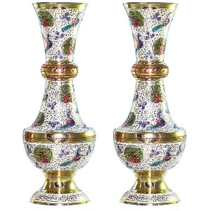 Attractive One Pair Beautiful Brass Vase