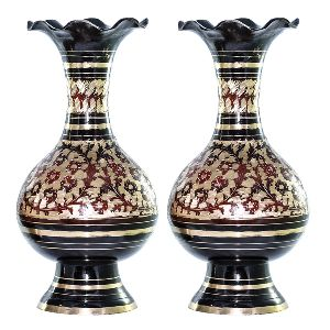 Stunning One Pair Beautiful Brass Vase