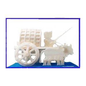 Magnificent Sholapith Bullock Cart