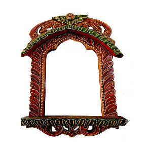 Traditional Style Green & Orange Jharokha
