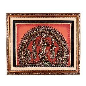 Wonderful Terracotta Work Of Durga Jhaki