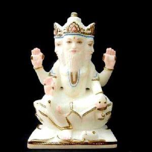 Marble Brahma Ji Statue
