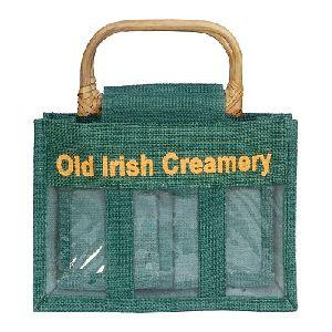 Jute Cane Handle Bag