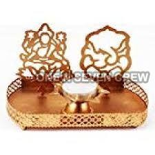 Laxmi Ganesh Tealight Candle Holder