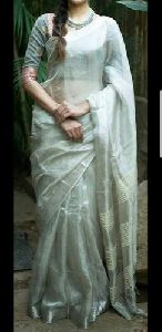 Handloom Tissue Linen Saree