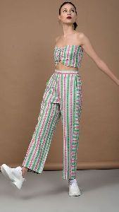 Multi Color Bandeau Top and Pant