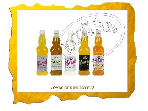 5 Bottle Cold Pressed Oil Combo