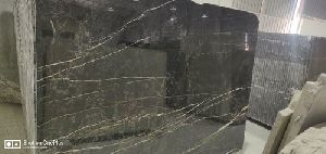 Black Gold Marble Slab