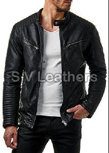 Mens Black Leather Jacket