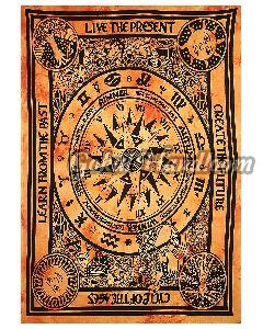 Astrological Sun Moon Cotton Wall Hanging Tapestry